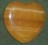 Calcit  orange - Taschenherzen ca. 3,5cm