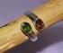 Ring - Kristall  Ring Turmalin rot - grün