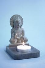 Kerzenhalter - Buddha Speckstein
