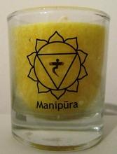 Chakra Kerze Manipura - gelb, 6 cm