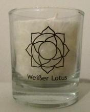 Chakra Kerze Lotus- weiß, 6 cm