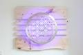 Lebensblume-Lampe mit Zirbenholz - Gesamtmaß 95 x 75cm