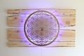 Lebensblume-Lampe mit Zirbenholz  - Gesamtmaß 250 x 160cm