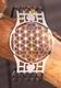 Armreif  Blume des Lebens  mit 7 Chakra Kristallen