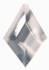Regenbogen Kristalle - Drachenträne Raute  63 x 43 mm