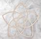 Venusblume aus Holz - 26,6 cm