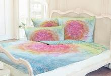Bettbezug Blume des Lebens Rainbow- 135 x 200 cm und Kissen