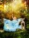 Bettbezug Blue Dream- 135 x 200 cm und Kissen