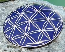 Blume des Lebens - Handschmeichler, dunkelblau