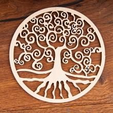 Yggdrasil aus Birkenholz, 18 cm