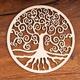 Yggdrasil aus Birkenholz, 30 cm