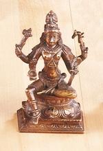 Shivas - Shiva als Maha-Yogi, Messing, ca. 13 cm