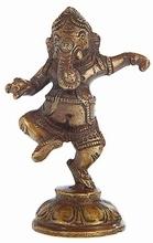 Ganesha - tanzend, Messing, ca. 9 cm