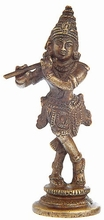 Krishna - Messing, ca. 12 cm
