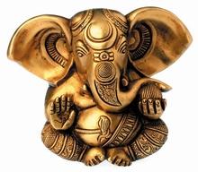 Ganesha - Messing massiv, ca.13 cm hoch