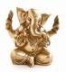 Ganesha - sitzend, Messing, ca. 14,5 cm