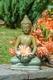 Buddha - Keramik grün