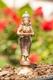 Lakshmi - Messing,Kupfer, Silber Finsh,  ca. 14 cm