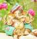 Ganesha sitzend - Messing, ca. 16 cm