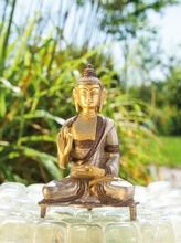 Kanakamuni Buddha, Messing, ca. 13 cm