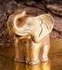 Elefant aus Terracotta Gold, ca. 25 cm