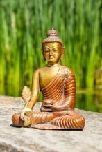 Buddha der Medizin, Messing, 16 cm