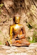 Buddha der Medizin, Messing, 23 cm