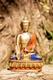 Buddha der Medizin, Messing mit Steinen, 22 cm