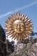 Sonnen - Symbol - Messing ca. 19 cm