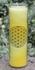 Blume des Lebens - Kerze im Glas gelb  21 cm