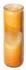 Blume des Lebens - Kerze im Glas orange 21 cm