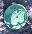 Keramikhalter für Räucherstäbchen - rund grün