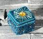 Sultans Schatz - blau - quadratisch - 4.5 x 4.5 cm