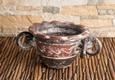 Räucherschale Azteke - rot / braun