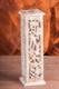 Räucherturm Shrinagar, weiß gewachst, ca. 31 cm