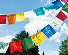 Tibetische Gebetsfahnen Om Mani Padme Hum, Baumwolle