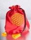Satin Beutel - Blume des Lebens - rot