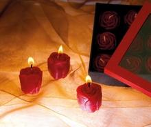 Rosenkerzen- Set aus 9 Kerzen
