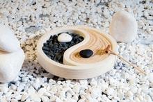 Zen Garten Yin Yang - weiß