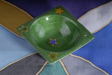 Räucherhalter - Star Emaille grün