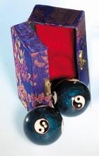 Qi Gong Klangkugeln - Yin Yang, blau