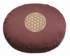Meditationskissen -  Blume des Lebens - aubergine