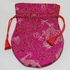 Brokattäschchen Drachen pink 11,5 x 9 cm