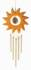 Kristallobjekt - Sonne mit Klangspiel natur