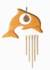 Kristallobjekt - Delphin mit Klangspiel natur