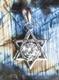 Hexagramm mit Kristallstein, 925 Sterling Silber