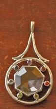 Anhänger - Chakra-Rad mit Bergkristall 925 Silber
