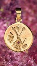 Anhänger - Venusisches Liebeszeichen, silber, vergoldet