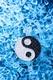 Ying Yang Anhänger mit Kette Ø 35 mm