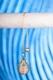 Spiralpendel Rosenquarz - vergoldet, 9g